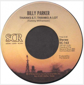 Billy Parker - Pretty World Records - Thanks E.T., Thanks A Lot - IndieWorld number 1 at Music Charts Magazine for week of January 29 - 2016